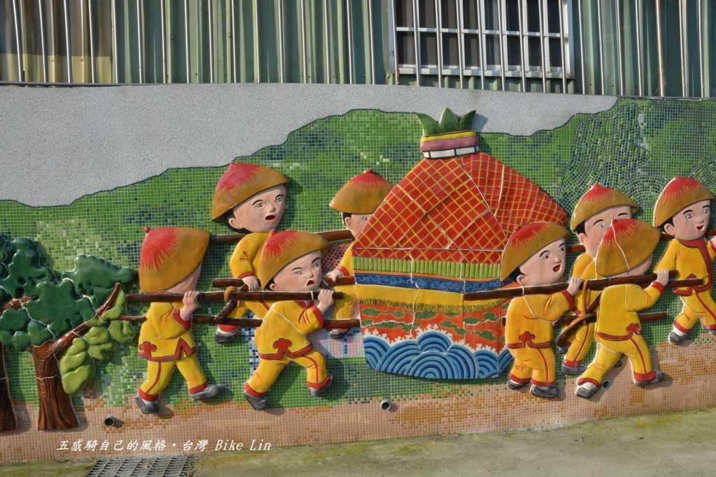 鹽港溪浮雕牆