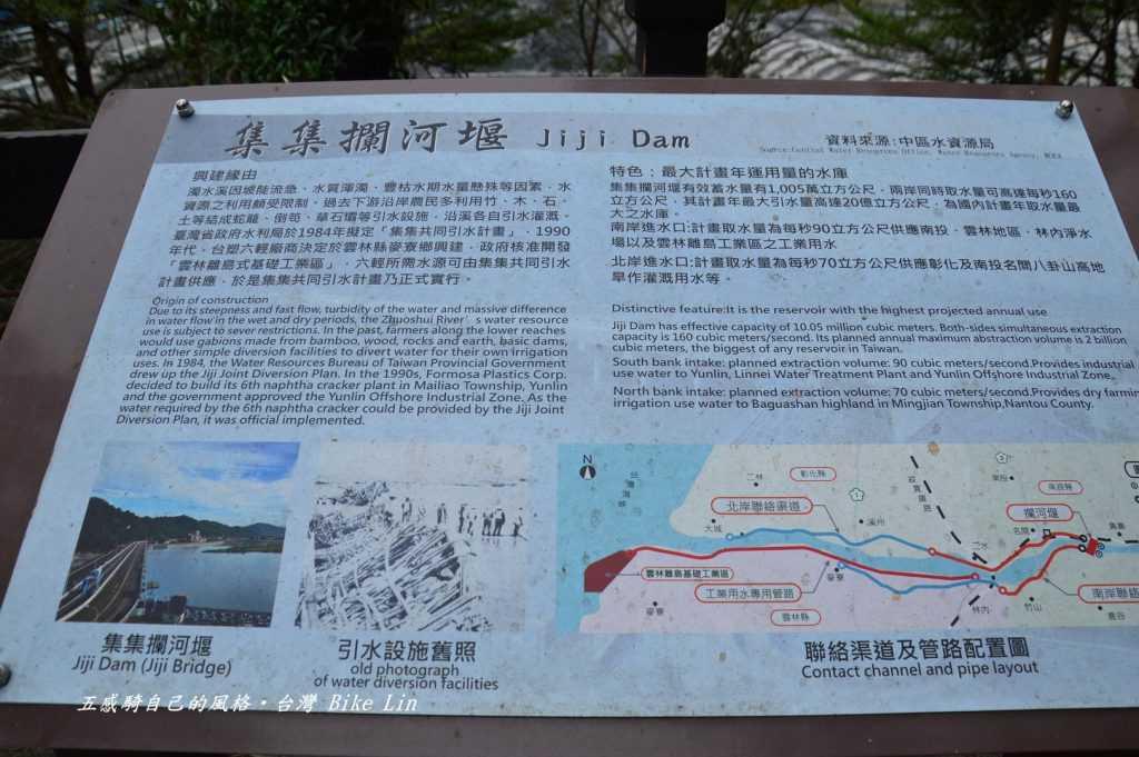 解說牌清楚交代濁水溪的水那裡去了