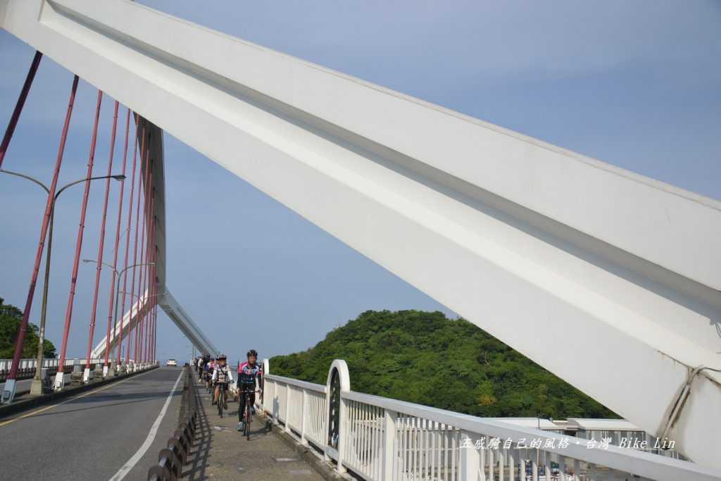 曾經分段環島佇足橋頂