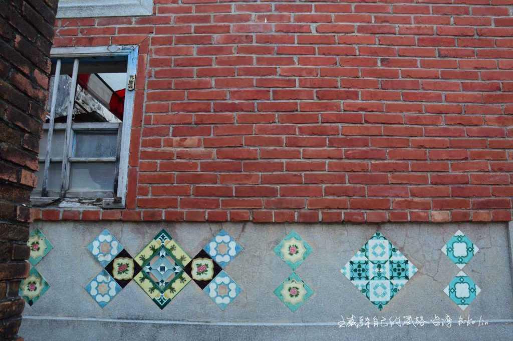 外牆彩色磁磚拼貼