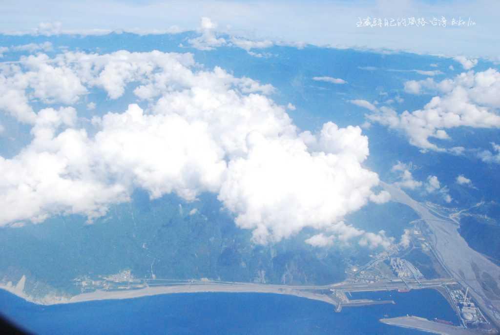 空中鳥瞰蘇花公路和平「港電廠三合一」