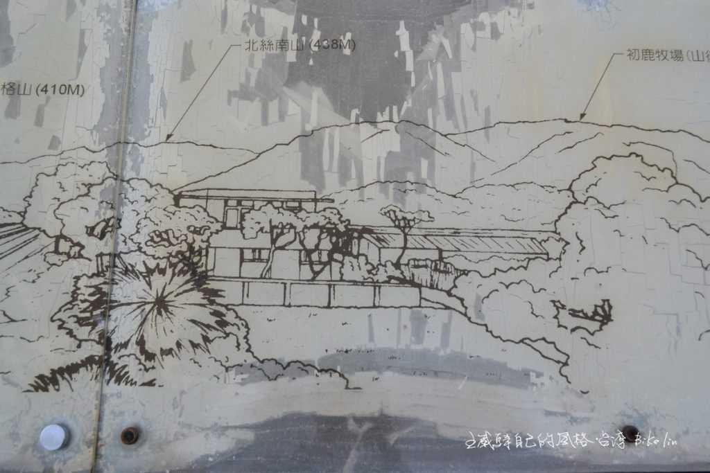 素描的山里鐵路局宿舍往昔「山里山裡民宿」